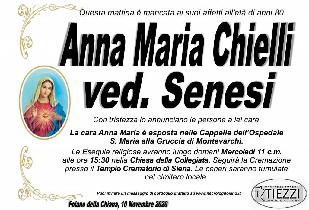 Manifesto funebre di  Anna Maria Chielli