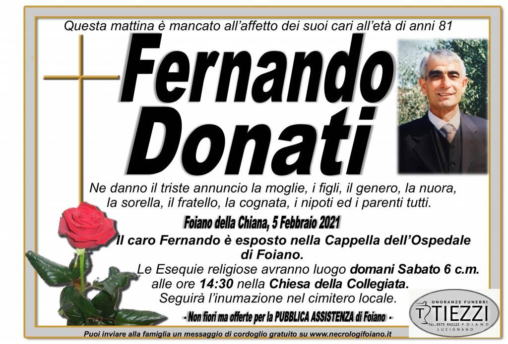 Manifesto funebre di  Fernando Donati