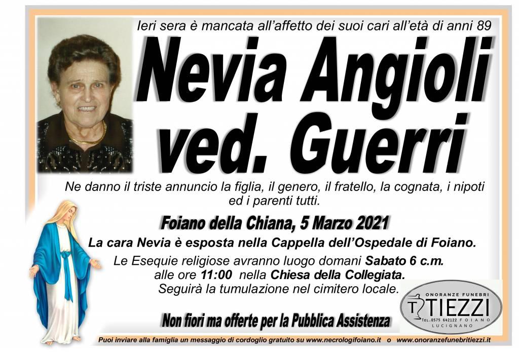 Manifesto funebre di  Nevia Angioli