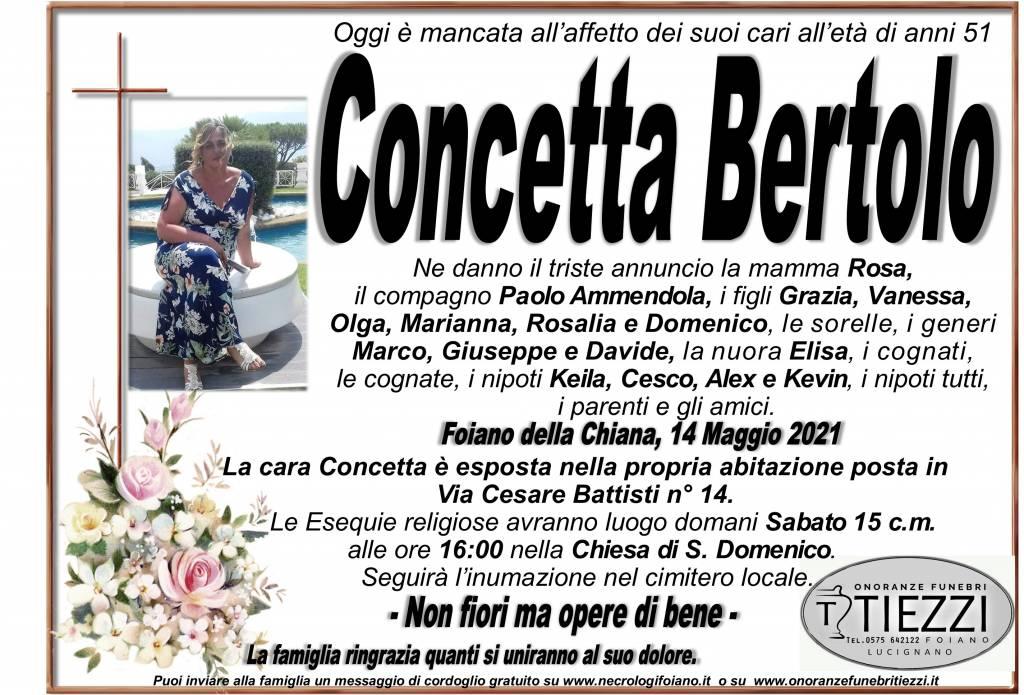 Manifesto funebre di  Concetta Bertolo
