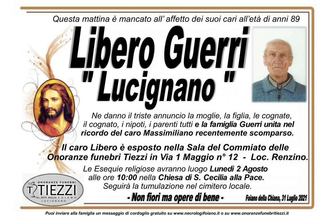 Manifesto funebre di  Libero Guerri 'LUCIGNANO'