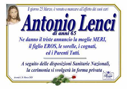 Manifesto funebre di  Antonio Lenci