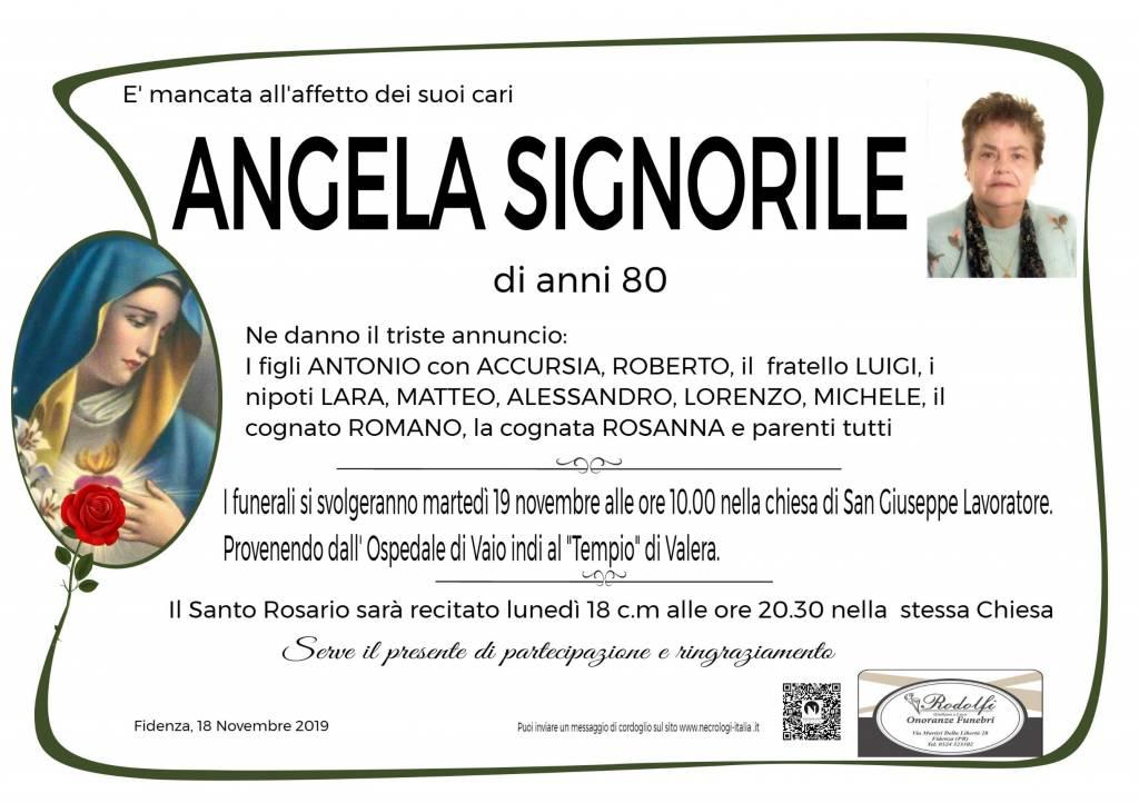 Manifesto funebre di  Angela Signorile