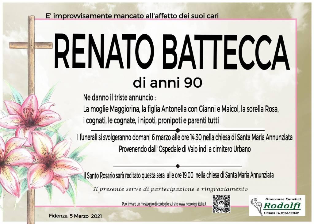 Manifesto funebre di  Renato Battecca