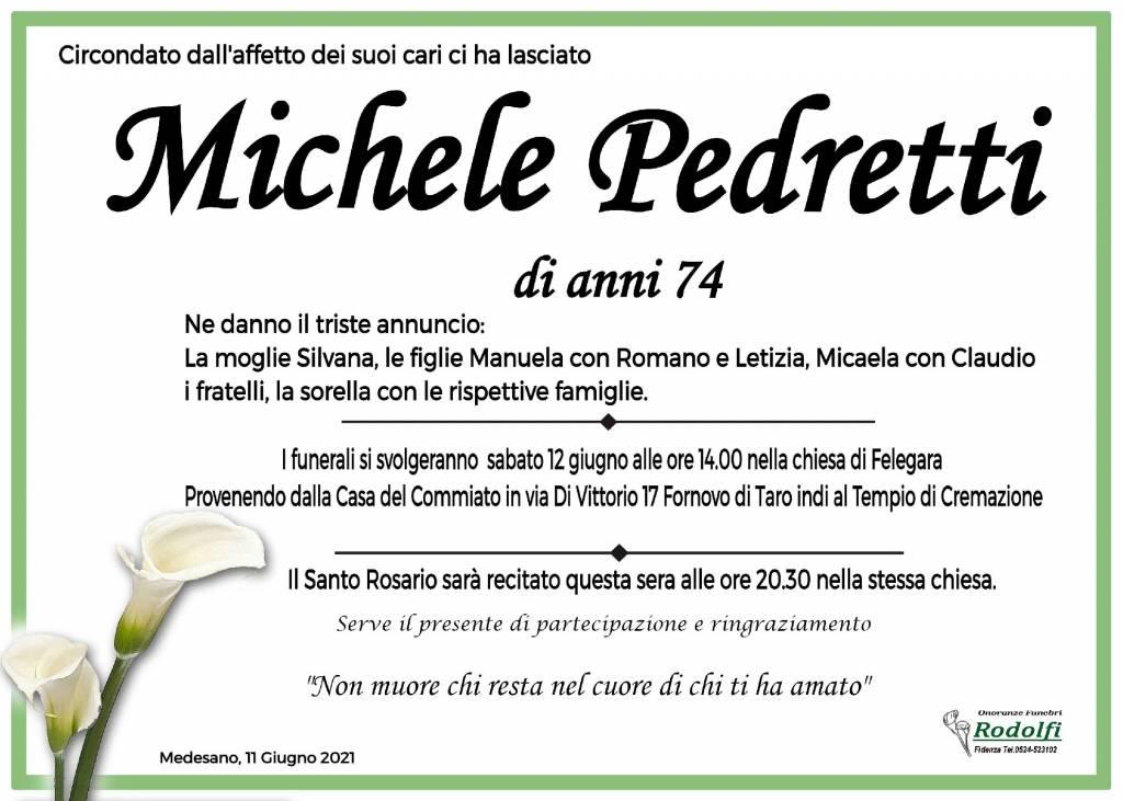 Manifesto funebre di  Michele Pedretti