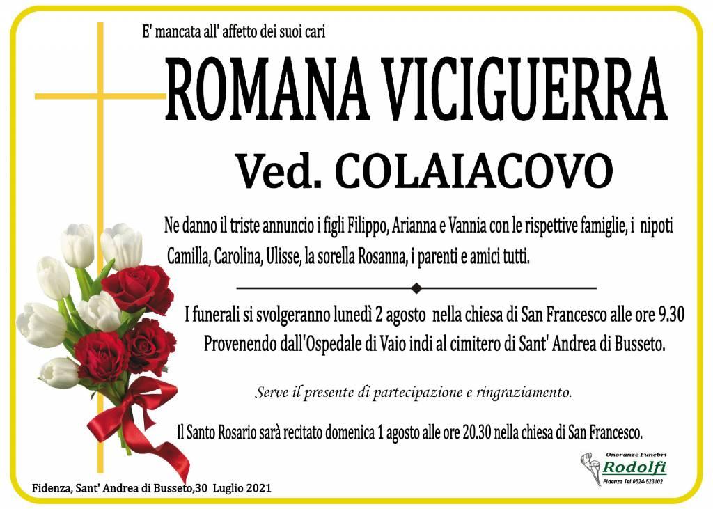 Manifesto funebre di  Romana Viciguerra
