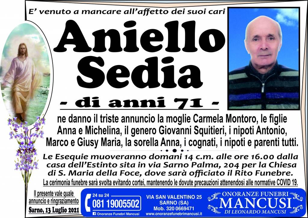 Manifesto funebre di  Aniello Sedia