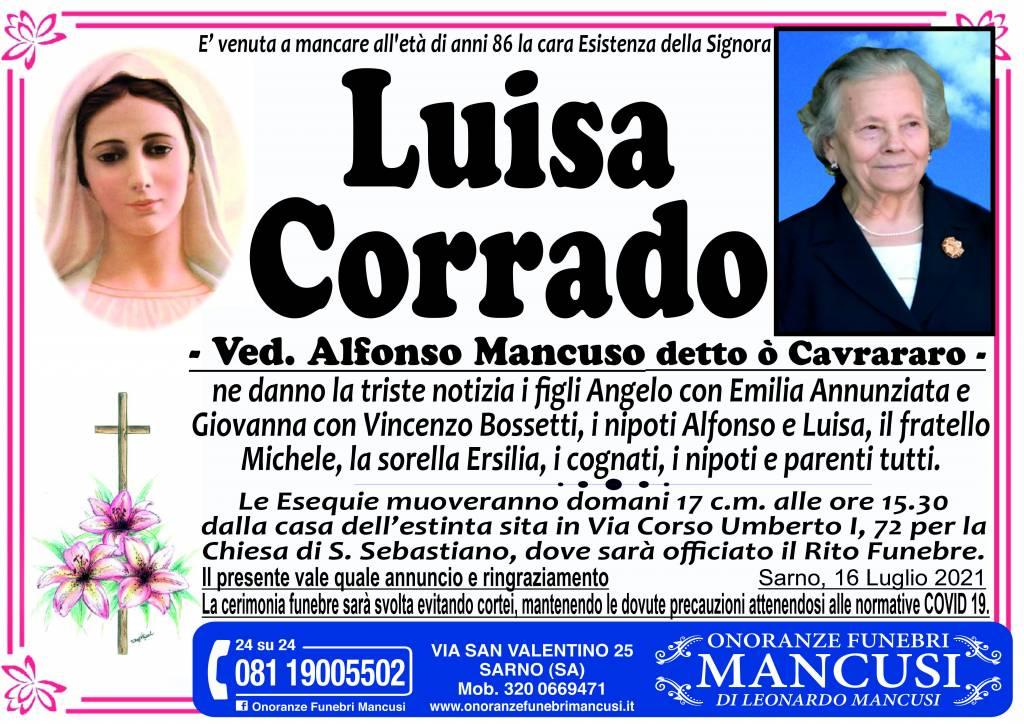 Manifesto funebre di  Luisa Corrado