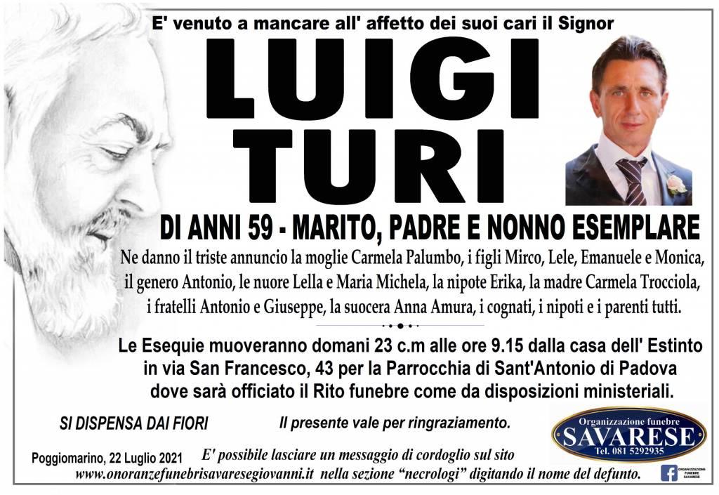 Manifesto funebre di  Luigi Turi
