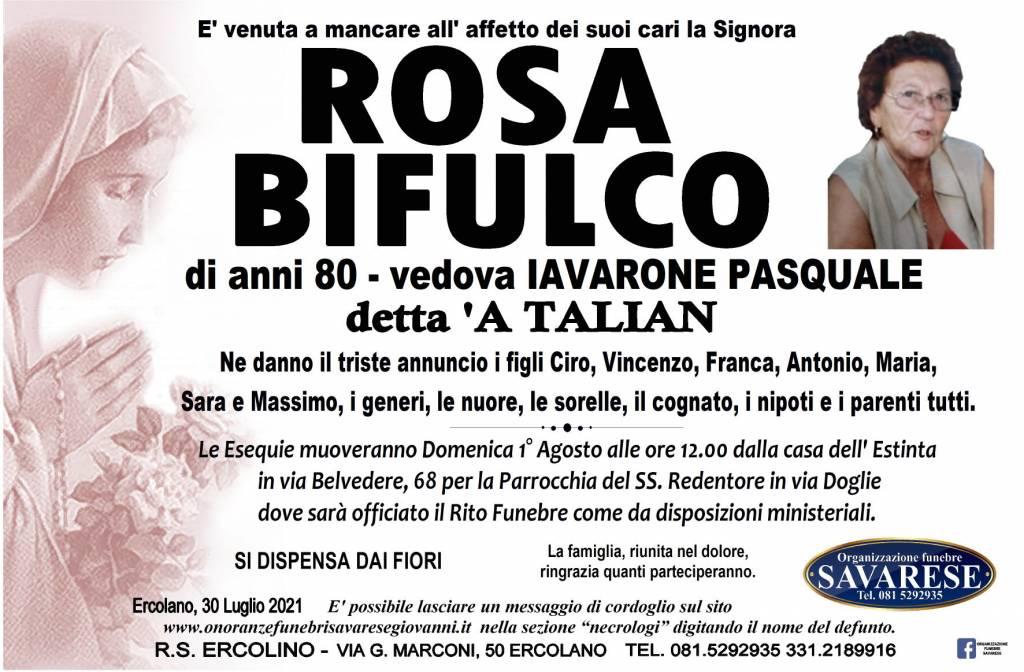 Manifesto funebre di  Rosa Bifulco