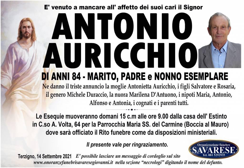 Manifesto funebre di  Antonio Auricchio