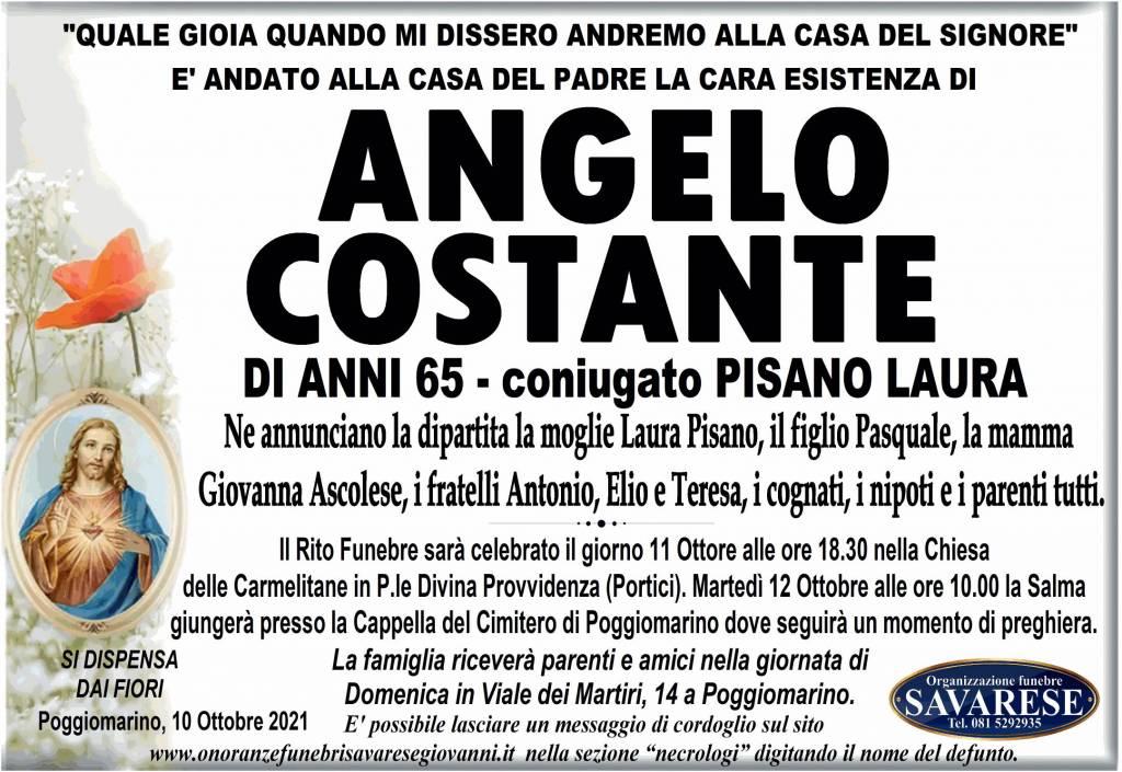Manifesto funebre di  Angelo Costante
