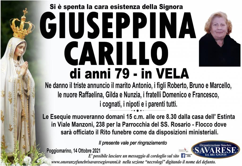 Manifesto funebre di  Giuseppina Carillo