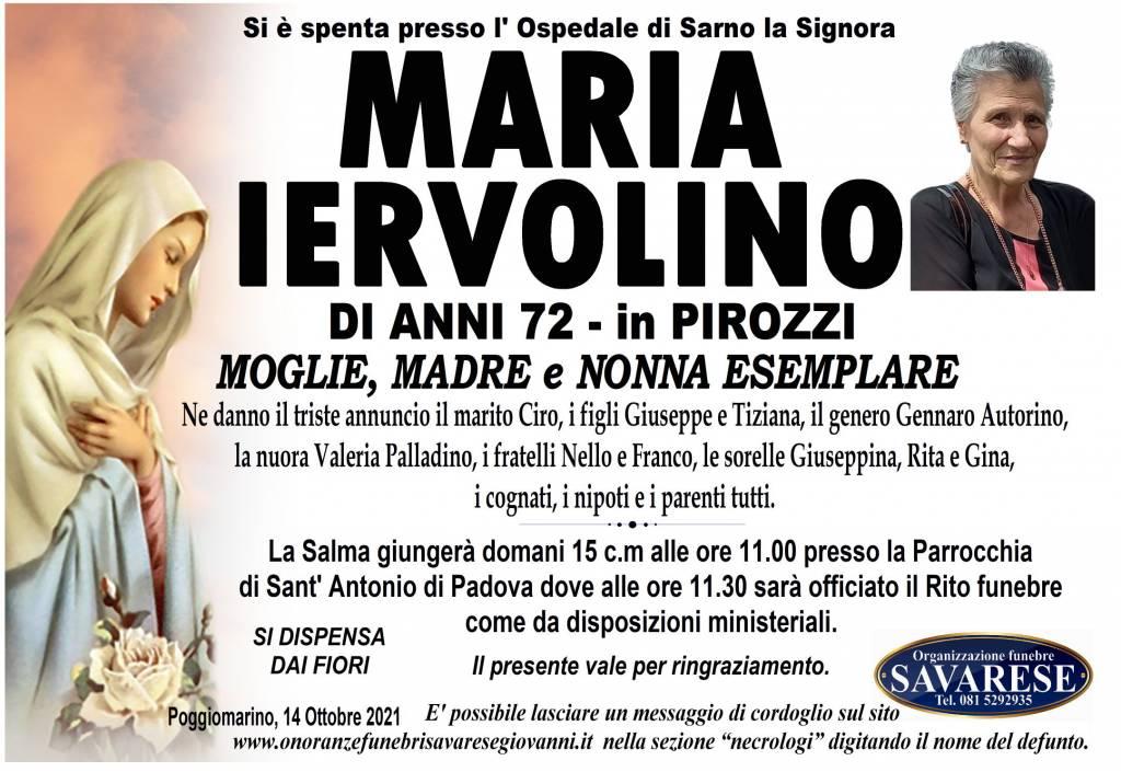 Manifesto funebre di  Maria Iervolino