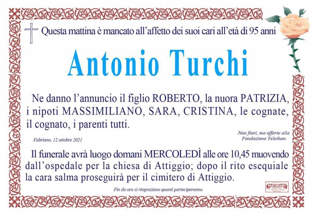 Manifesto funebre di  Antonio Turchi