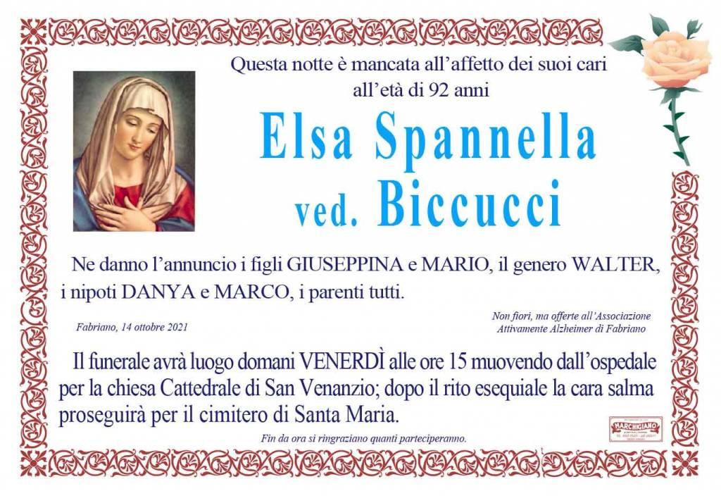 Manifesto funebre di  Elsa Spannella Ved. Biccucci