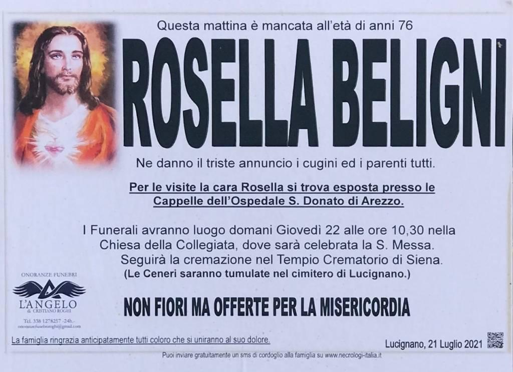 Manifesto funebre di  Rosella Beligni