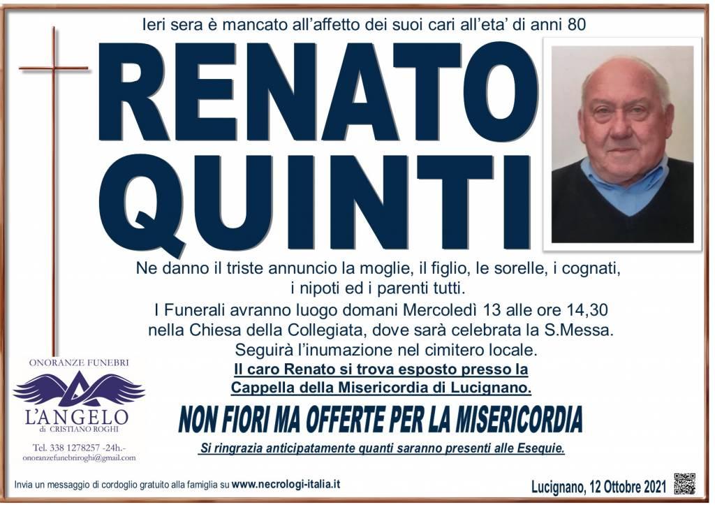 Manifesto funebre di  Renato Quinti