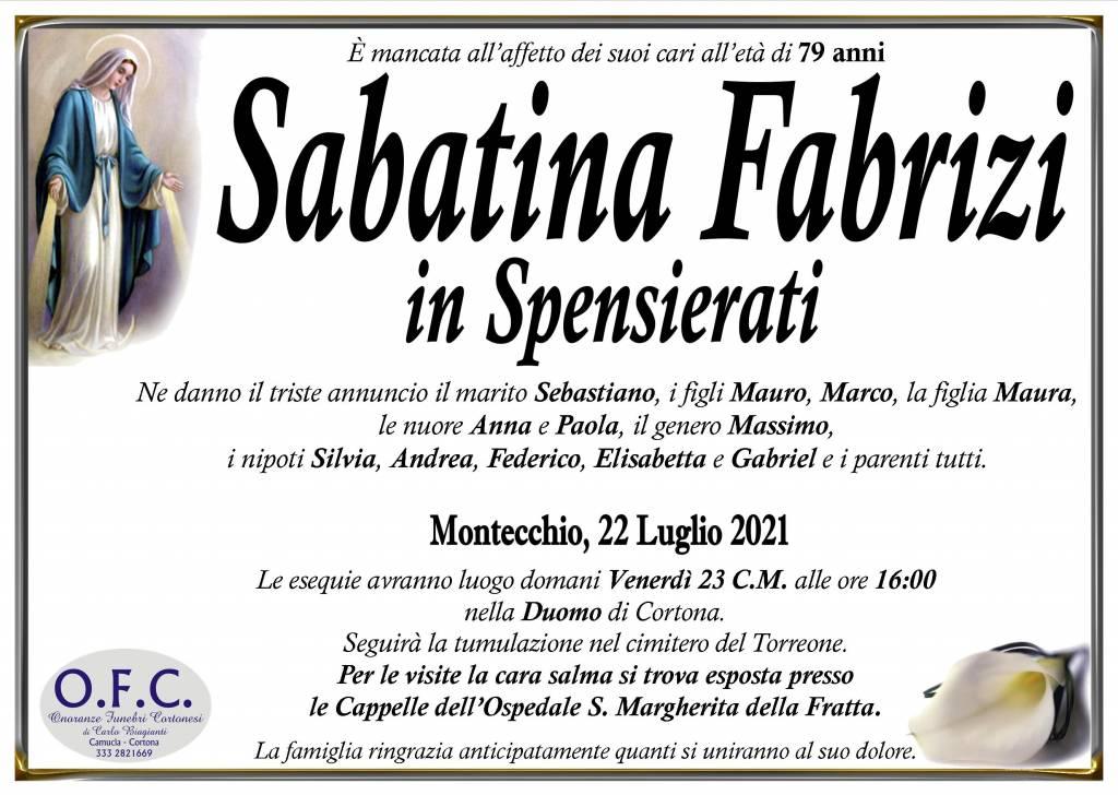 Manifesto funebre di  Sabatina Fabrizi