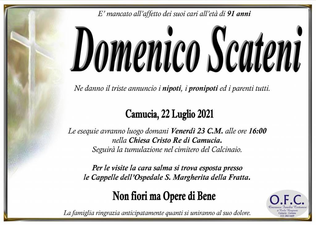 Manifesto funebre di  Domenico Scateni