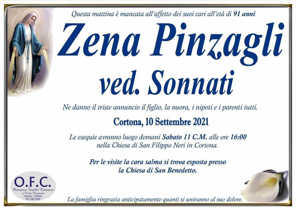 Manifesto funebre di  Zena Pinzagli