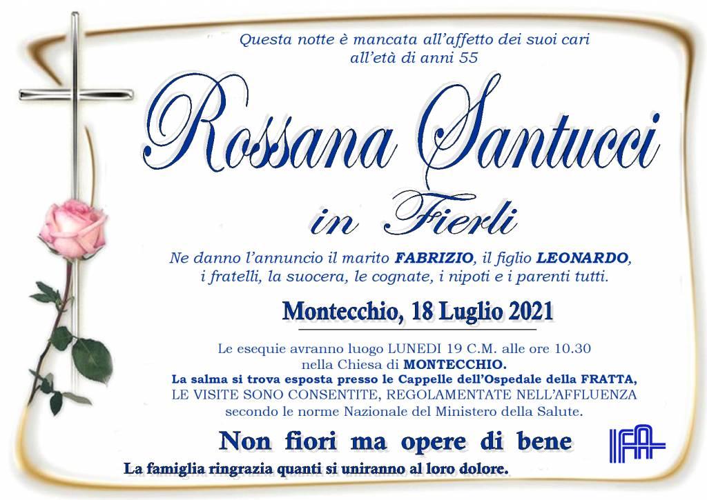 Manifesto funebre di  Rossana Santucci