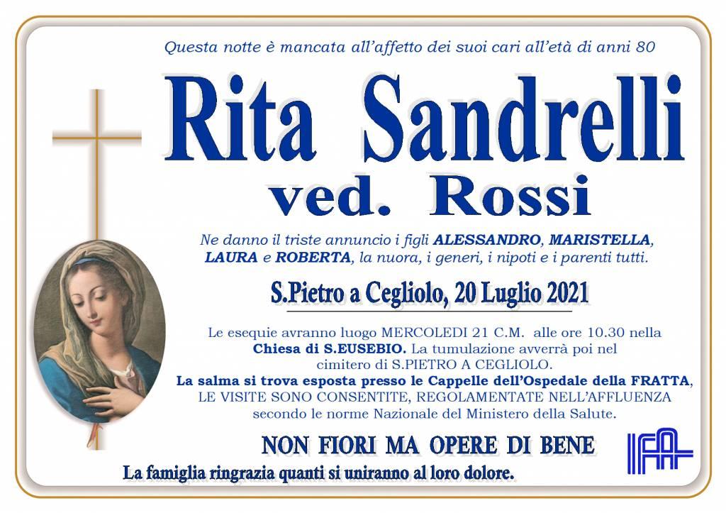 Manifesto funebre di  Rita Sandrelli