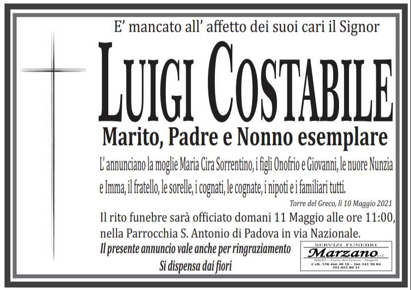 Manifesto funebre di  Luigi Costabile