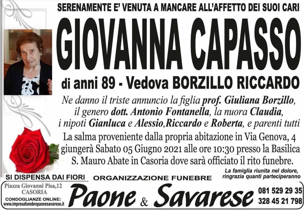 Manifesto funebre di  Giovanna Capasso