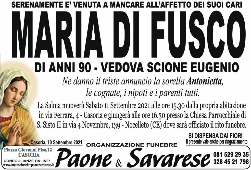 Manifesto funebre di  Maria Fusco