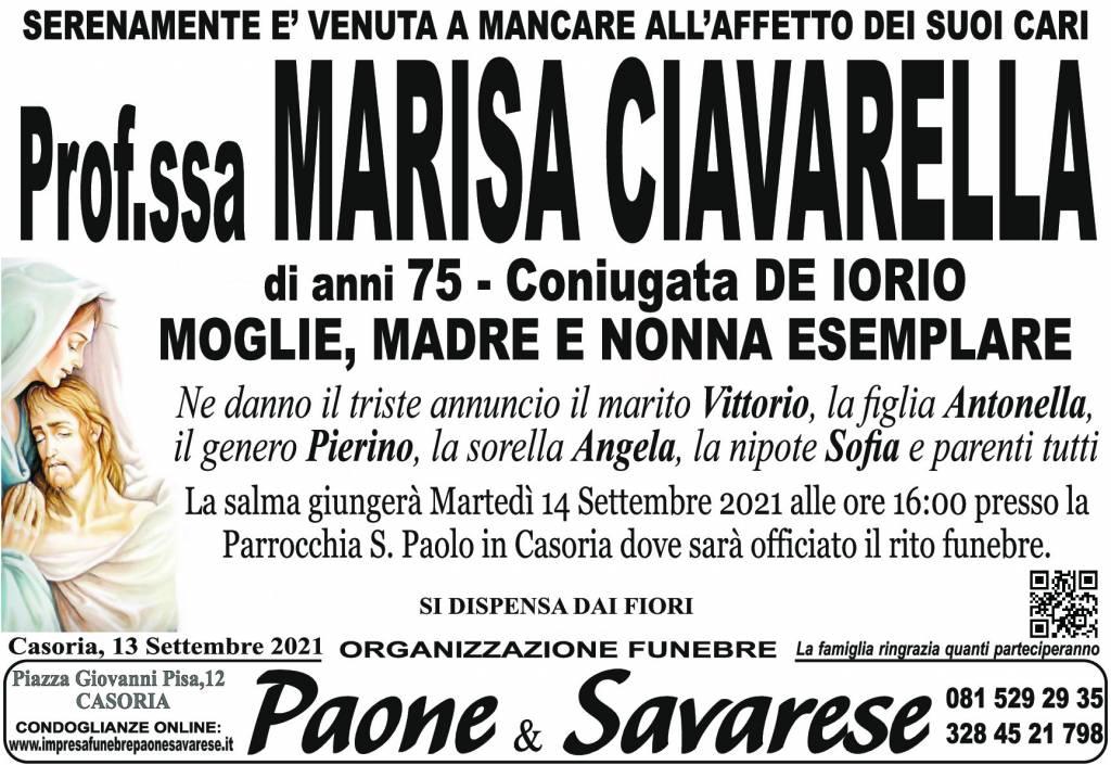 Manifesto funebre di Prof.ssa Marisa Ciavarella