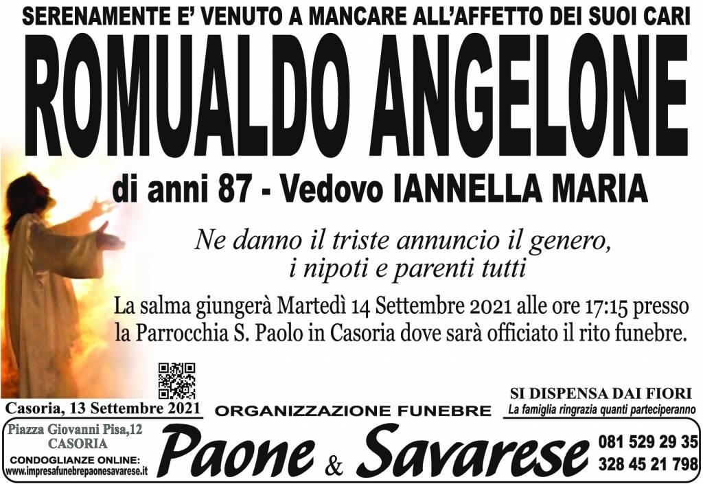 Manifesto funebre di  Romualdo Angelone