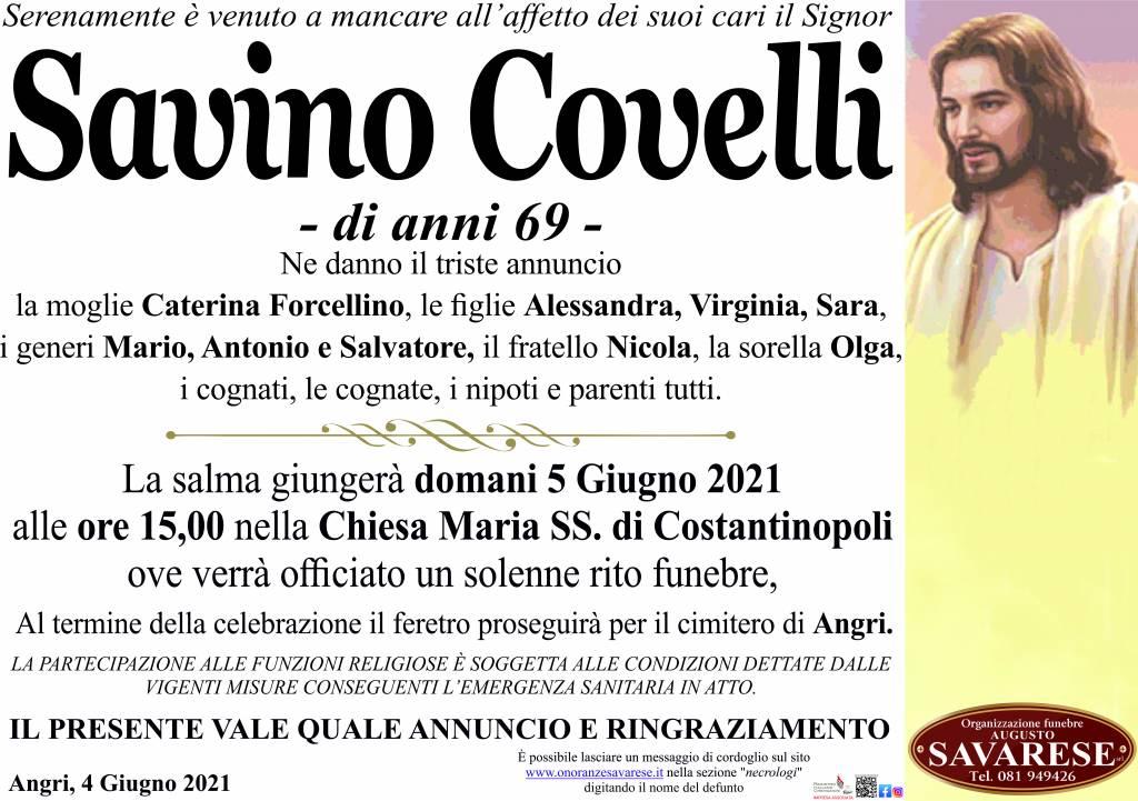 Manifesto funebre di  Savino Covelli