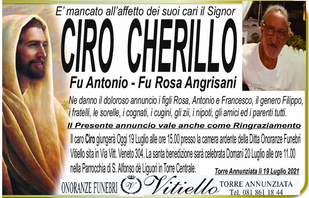Manifesto funebre di  Ciro Cherillo