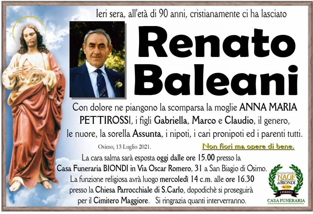 Manifesto funebre di  Renato Baleani