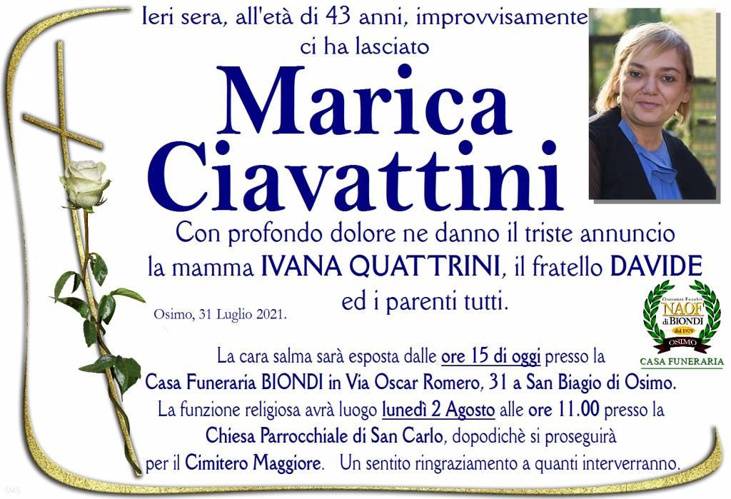 Manifesto funebre di  Marica Ciavattini