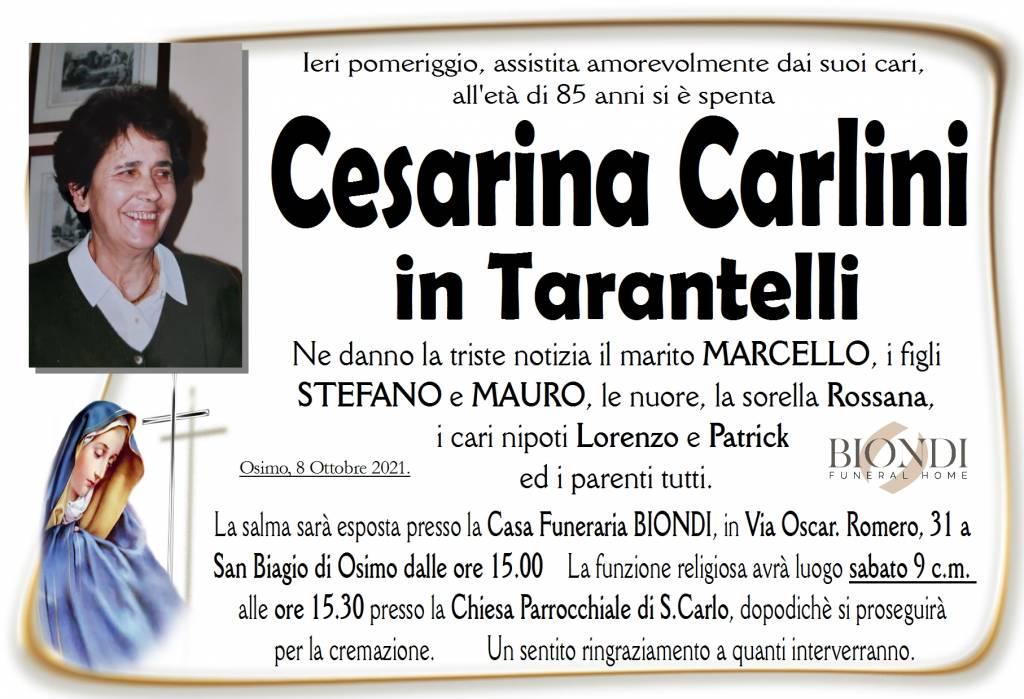 Manifesto funebre di  Cesarina Carlini