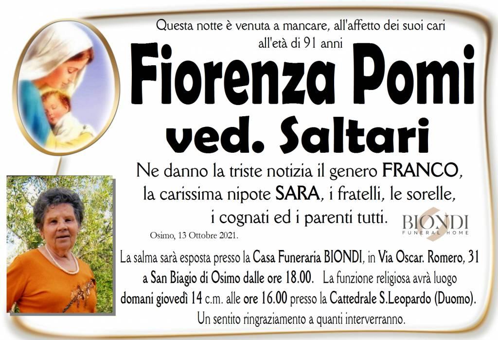 Manifesto funebre di  Fiorenza Pomi